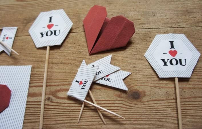 coeur origami