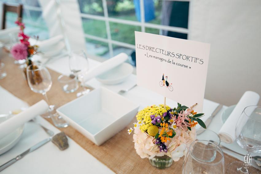 Centre de table pour mariage décontracté, champêtre et délicat