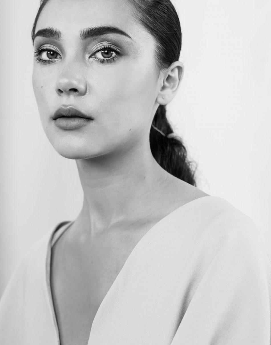 mariée moderne portrait noir et blanc