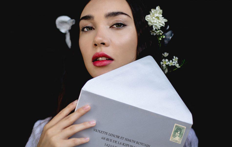 enveloppes argent faire-part mariage
