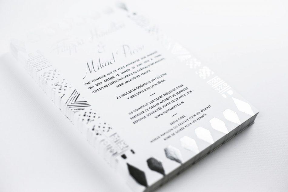 faire part letterpress, faire part part de mariage sur mesure