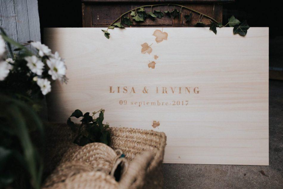 bois gravé mariage