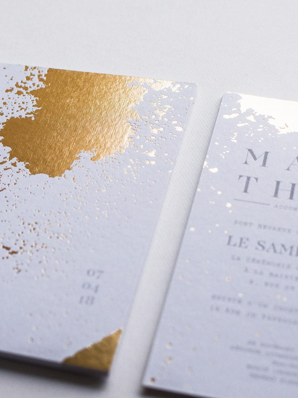 Invitation mariage sur papier colorplan 700 g