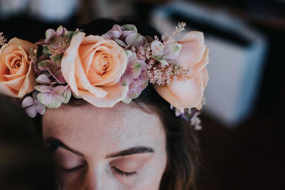 couronne de fleurs oversize par lady brindille
