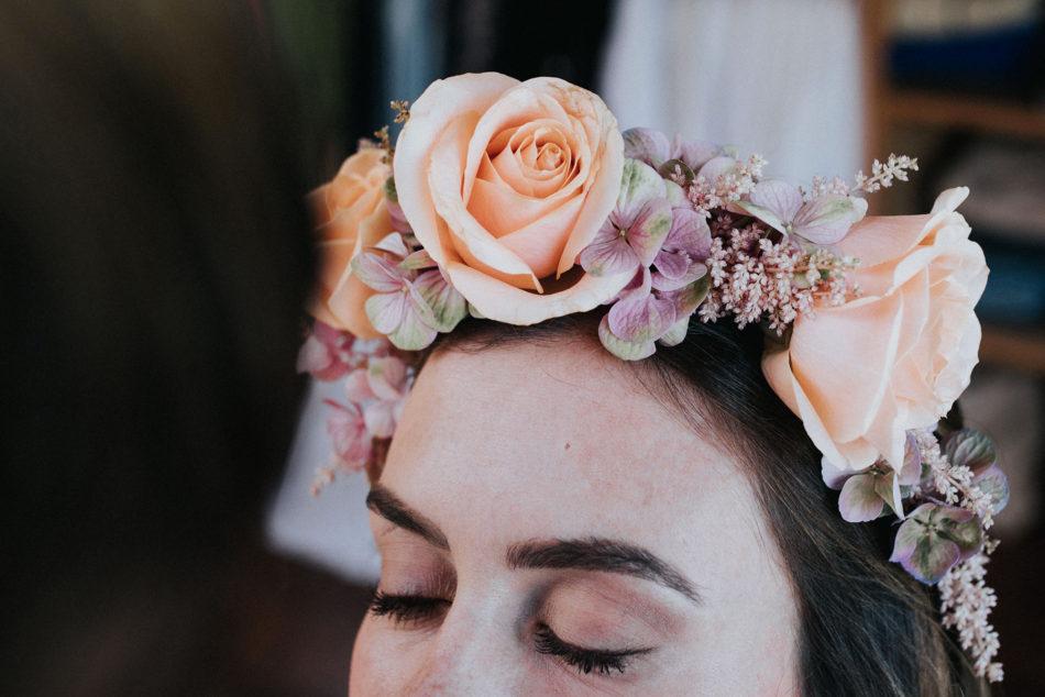 couronne de fleurs oversize par lady brindille pays basque