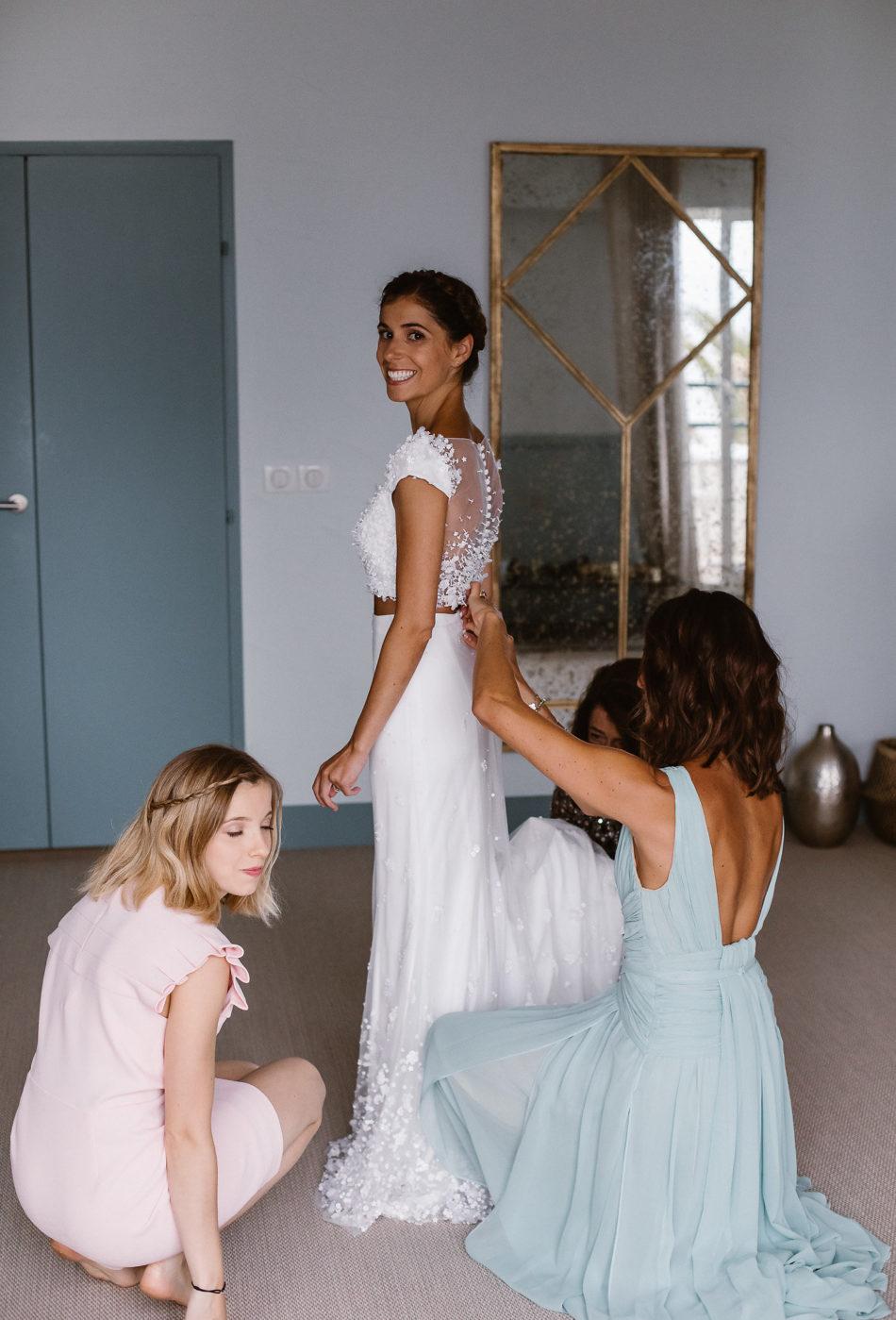 custom made wedding dress by Rime ARodaky