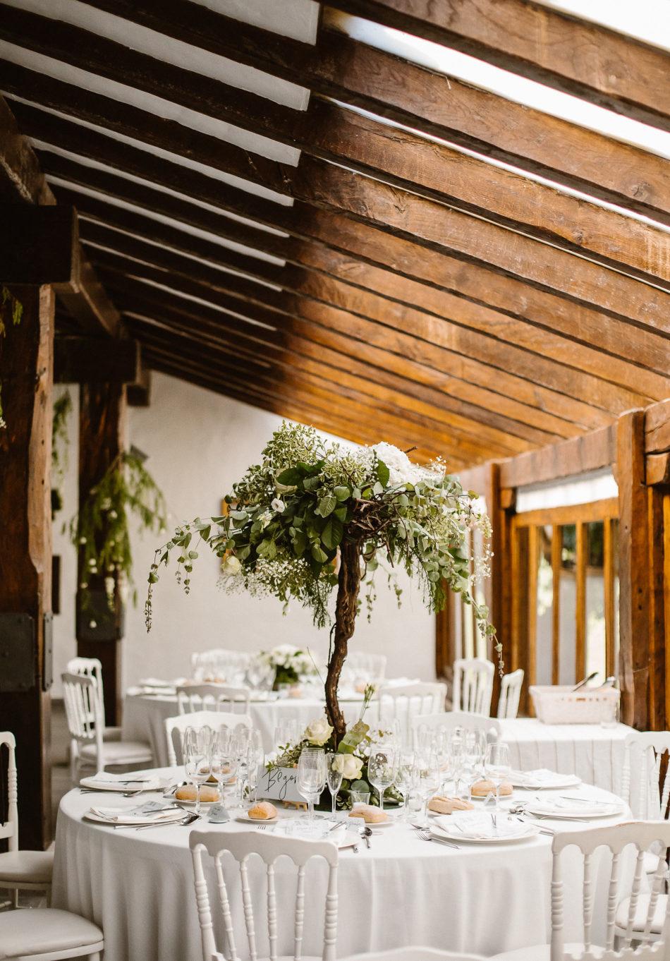 decoration de table blanc et vert