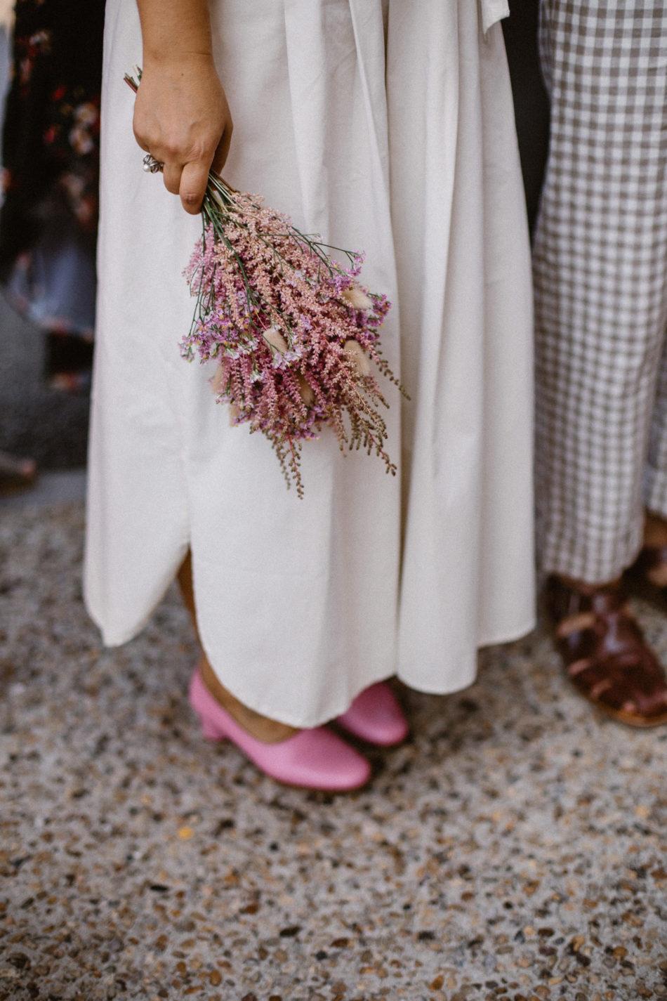 bouquet de la mariée en fleurs sechées