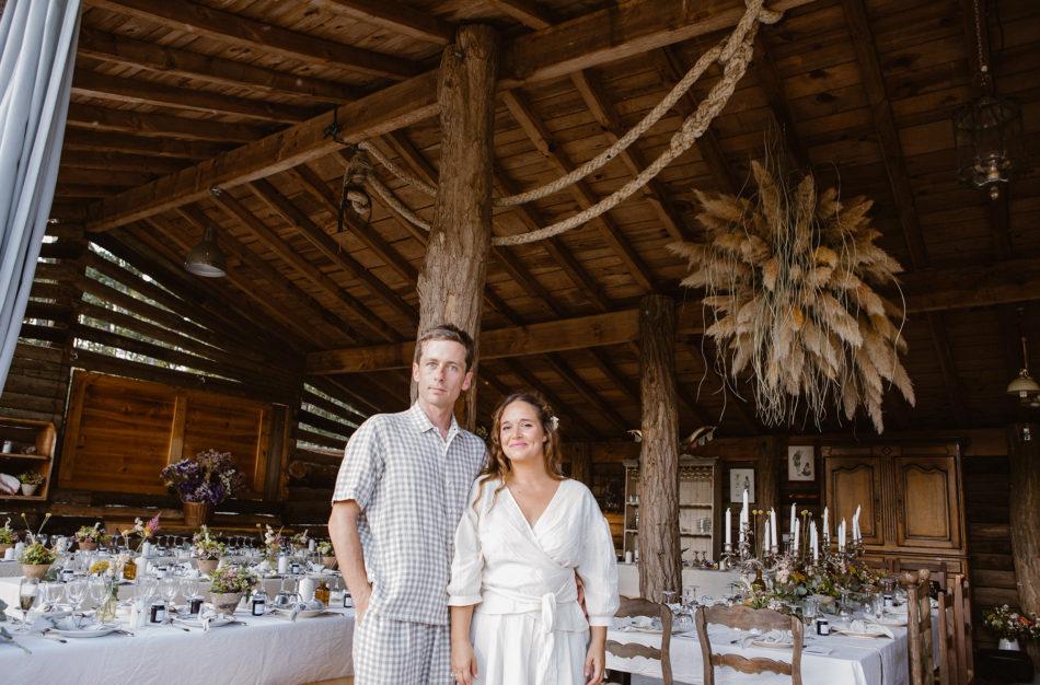 mariage Folk et Bohème dans une grange landaise