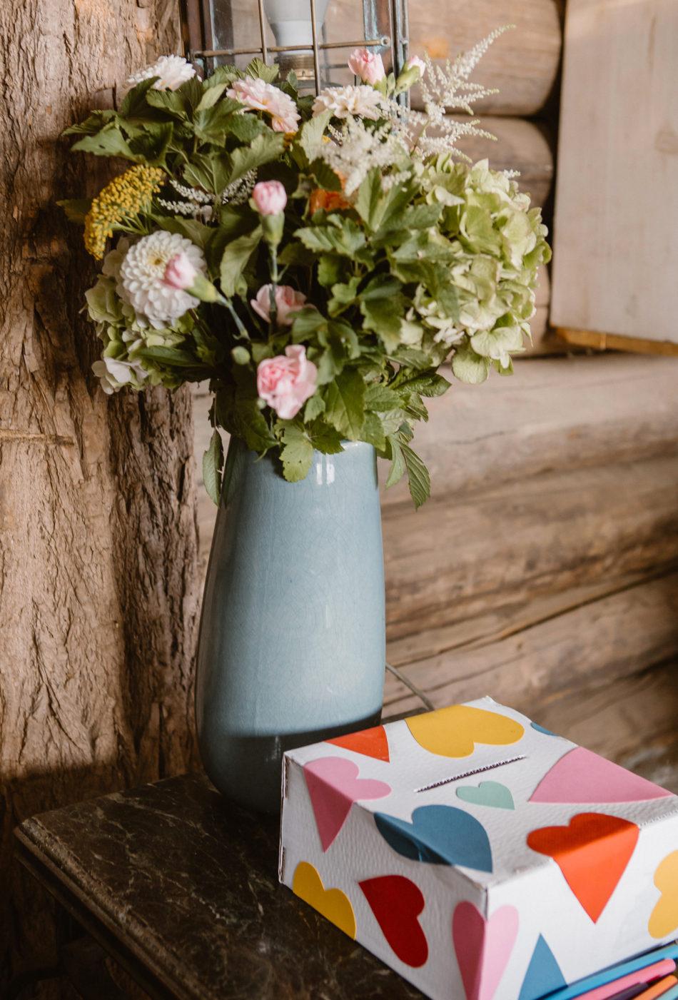 vase decoration mariage