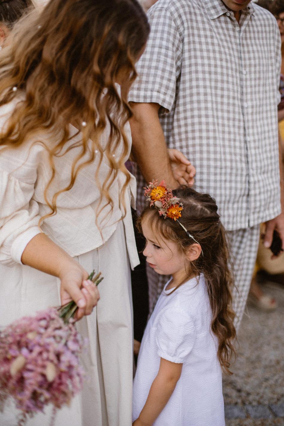 mariage avec des fleurs sechées