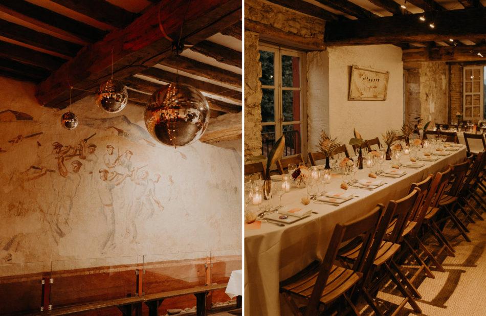 décoration mariage boule disco