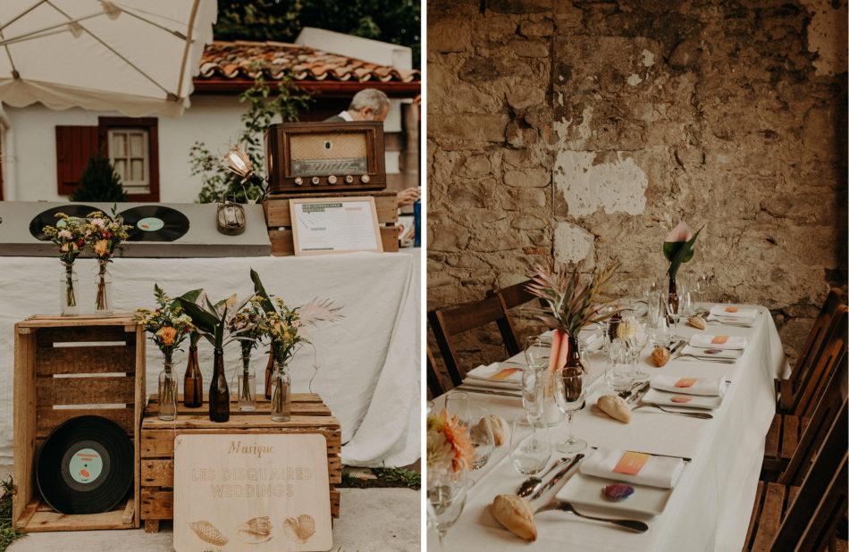 décoration mariage originale et colorée
