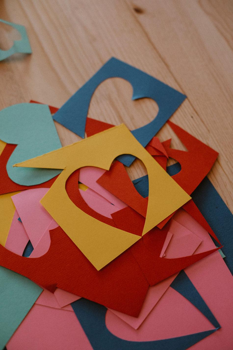 petit coeur en papier