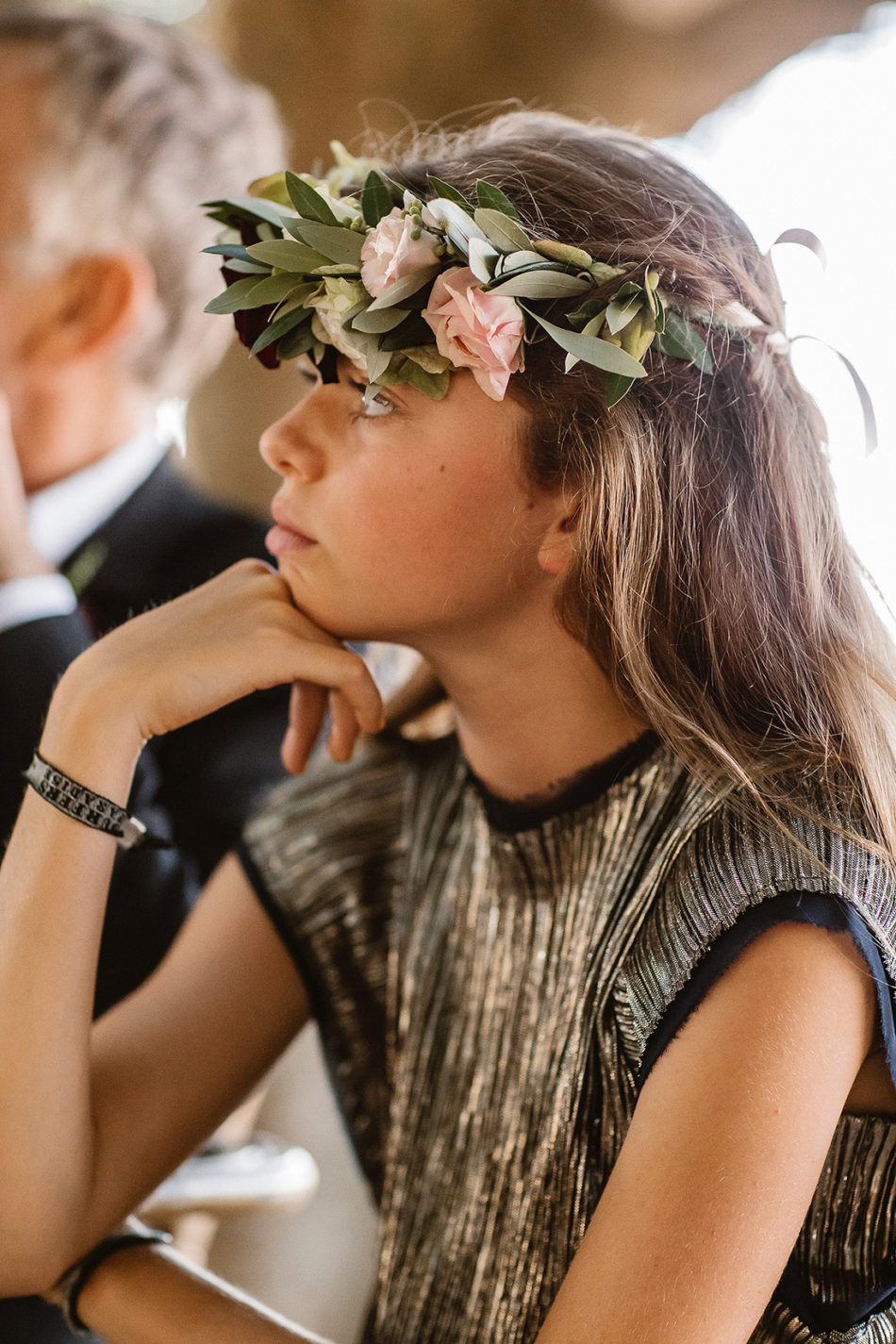 flower crown idea for a wedding