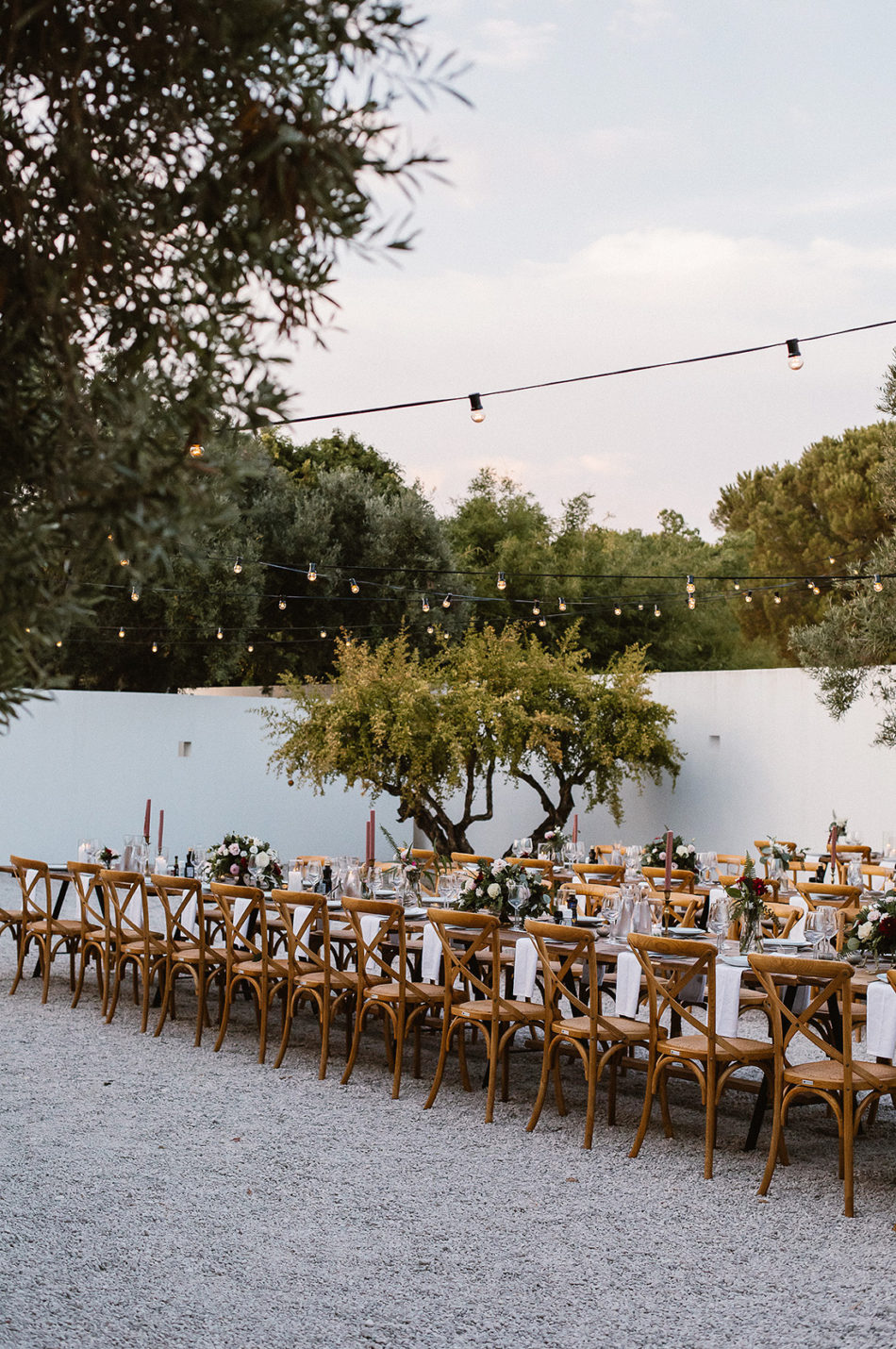 long table decoration wedding portugal