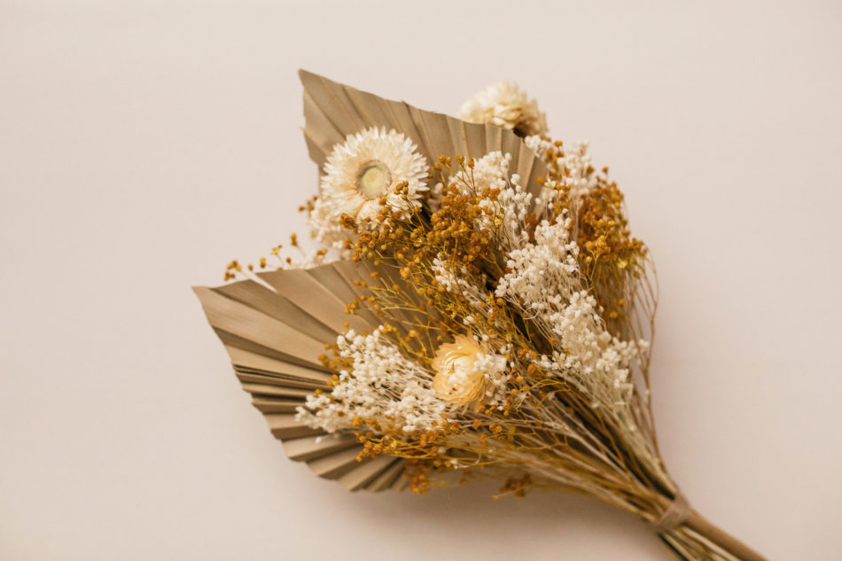 idée bouquet de fleurs sechee mariage