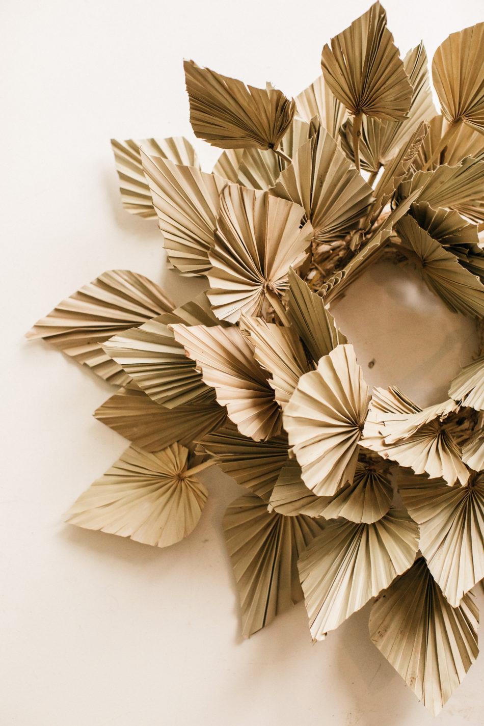 couronne tendance fleurs séchée