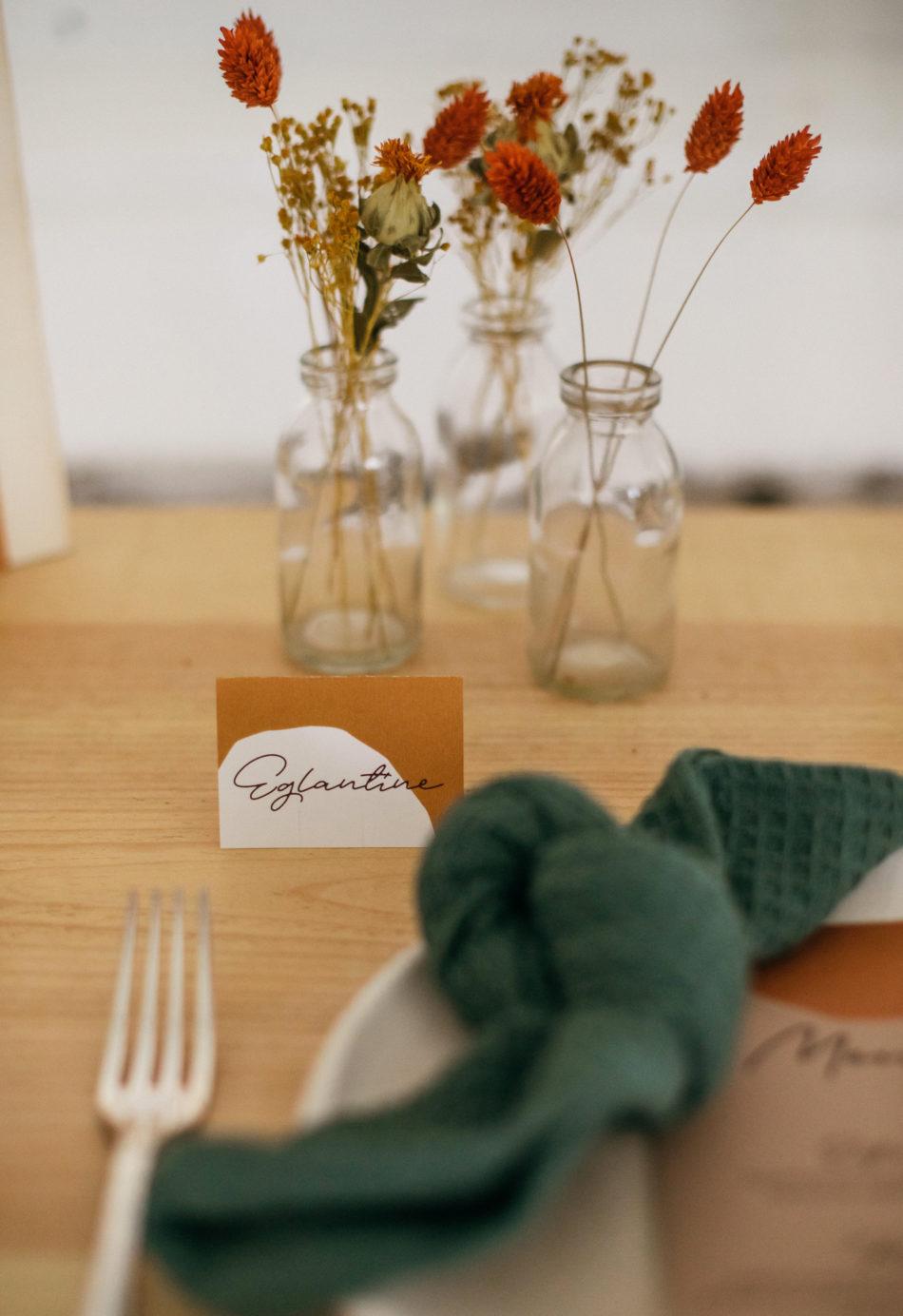 déco de table mariage originale