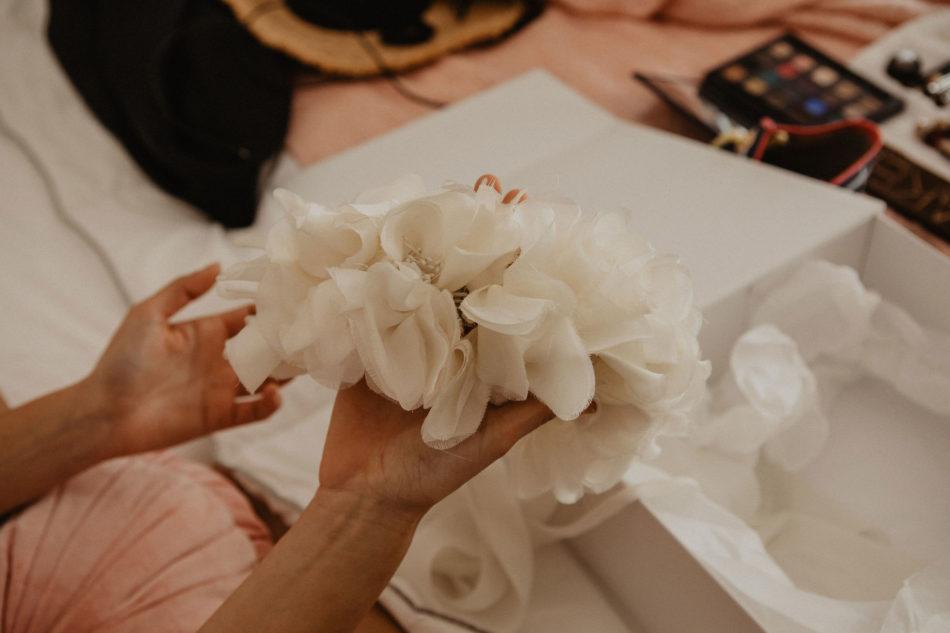 couronne de fleurs tissu victoire vermeulen