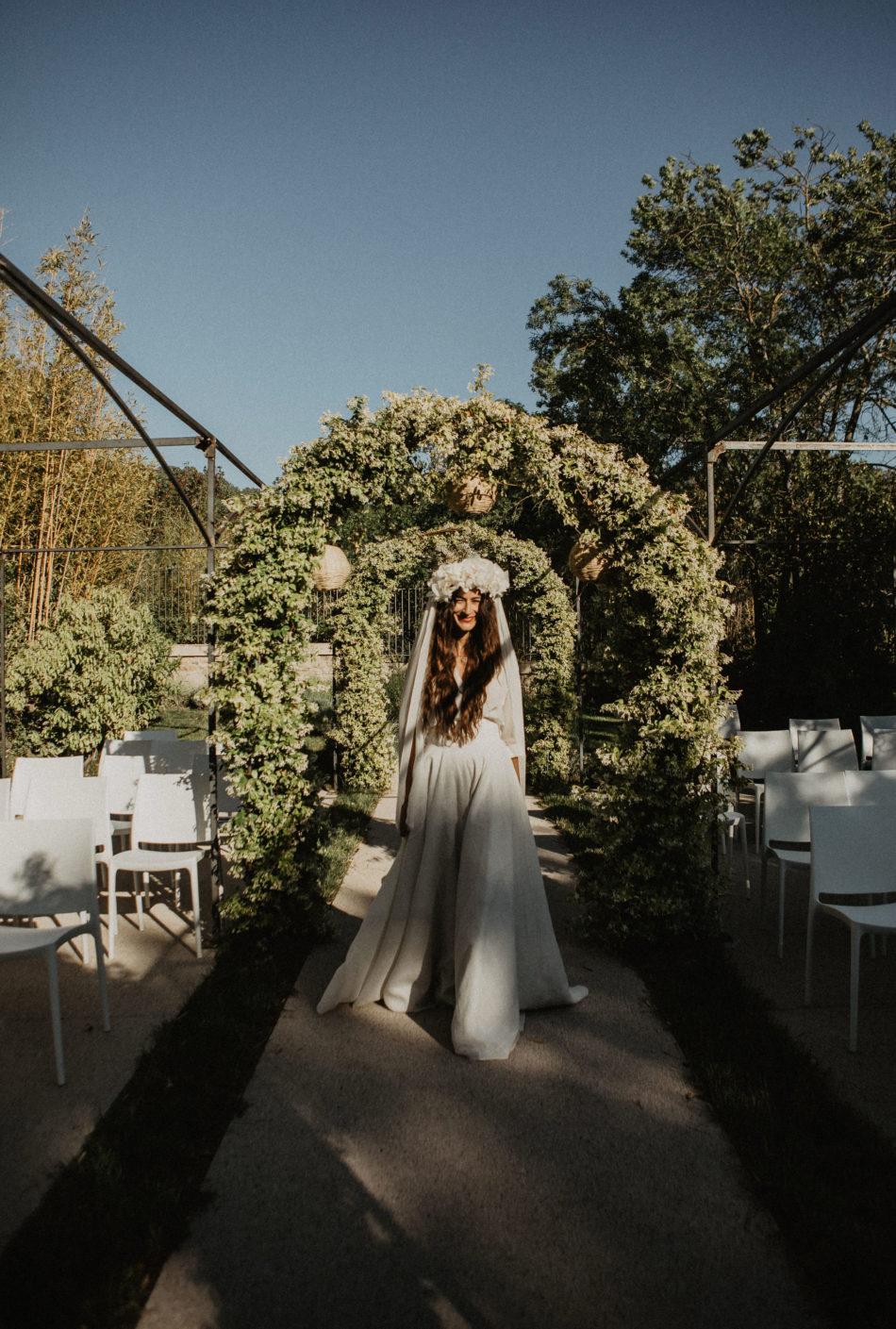 mariée moderne et romantique