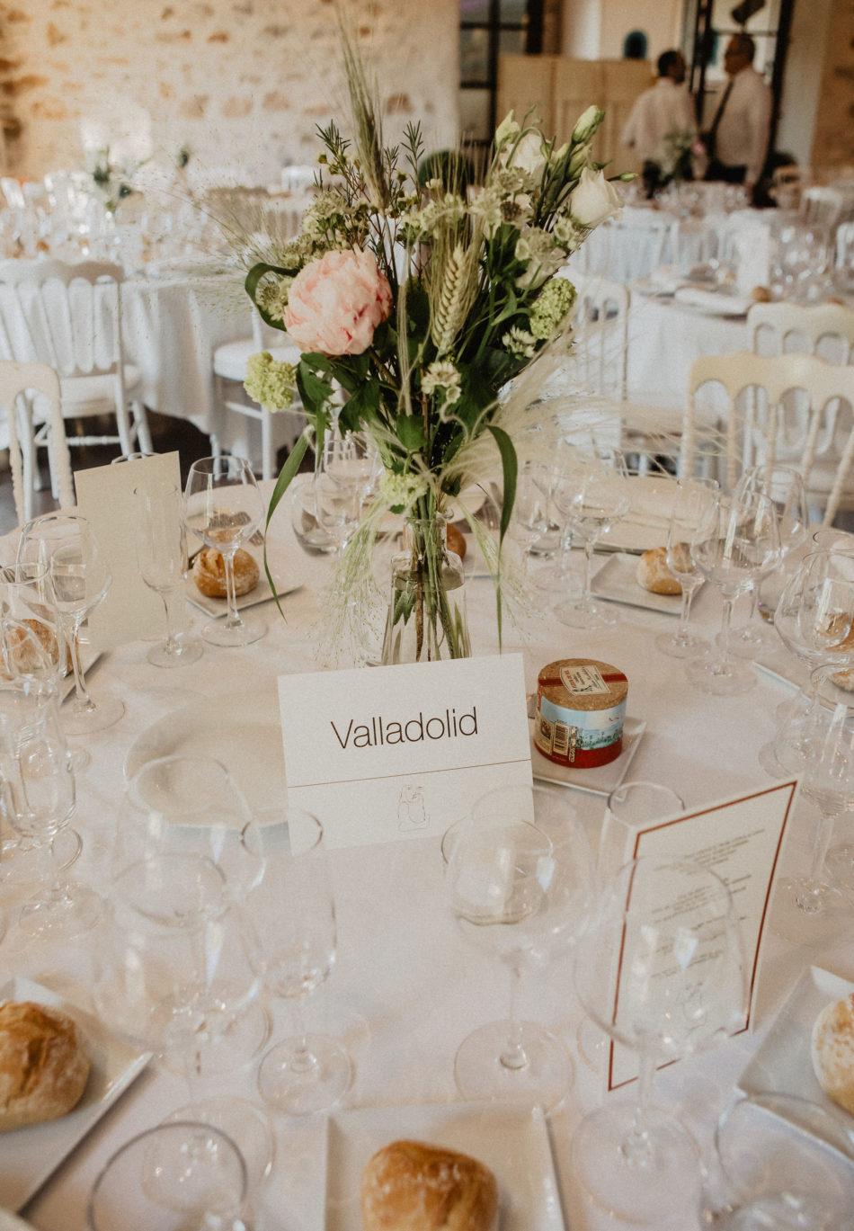 table de mariage deco