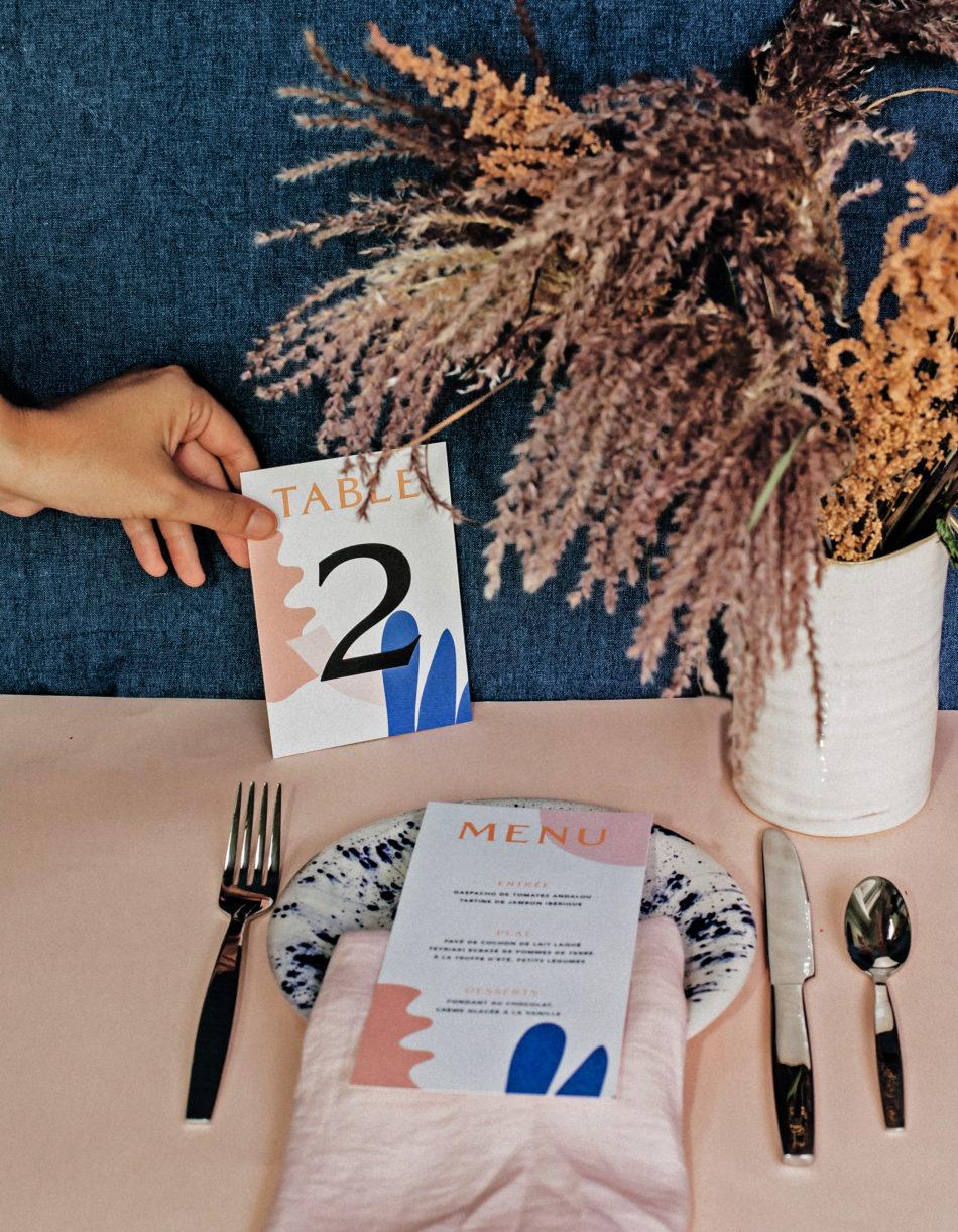 TABLE MARIAGE COLORÉE