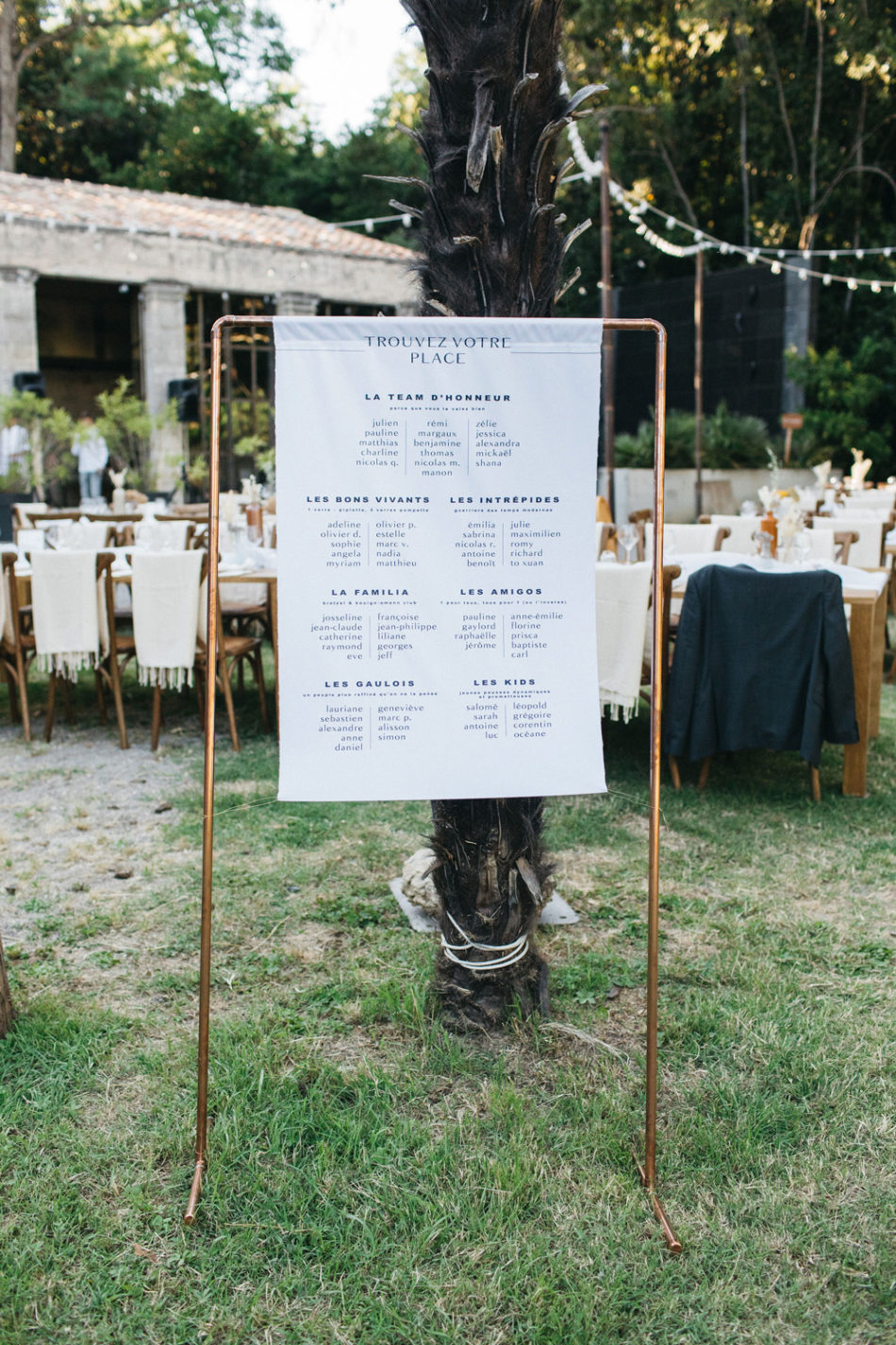 un mariage simple authentique, idée de plan de table moderne