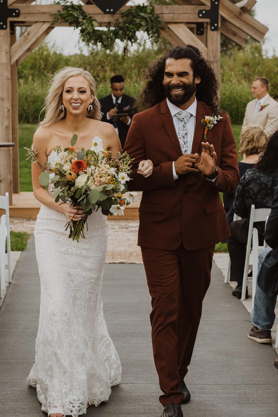 mariage boho moderne dans le dakota du sud