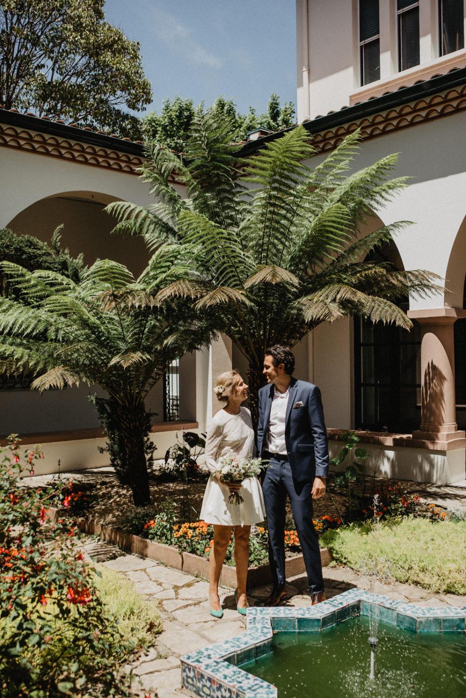 mariage sous un palmier