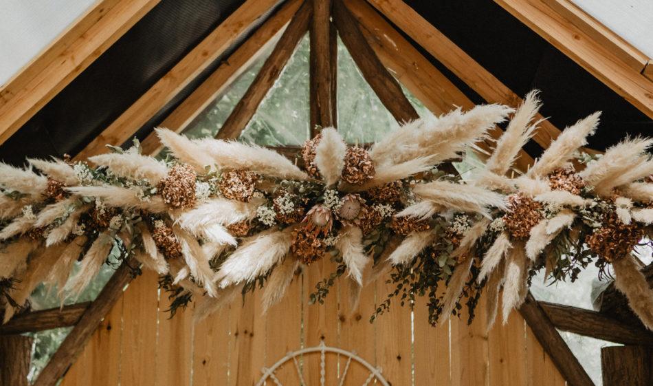 mariage bohème au coco barn
