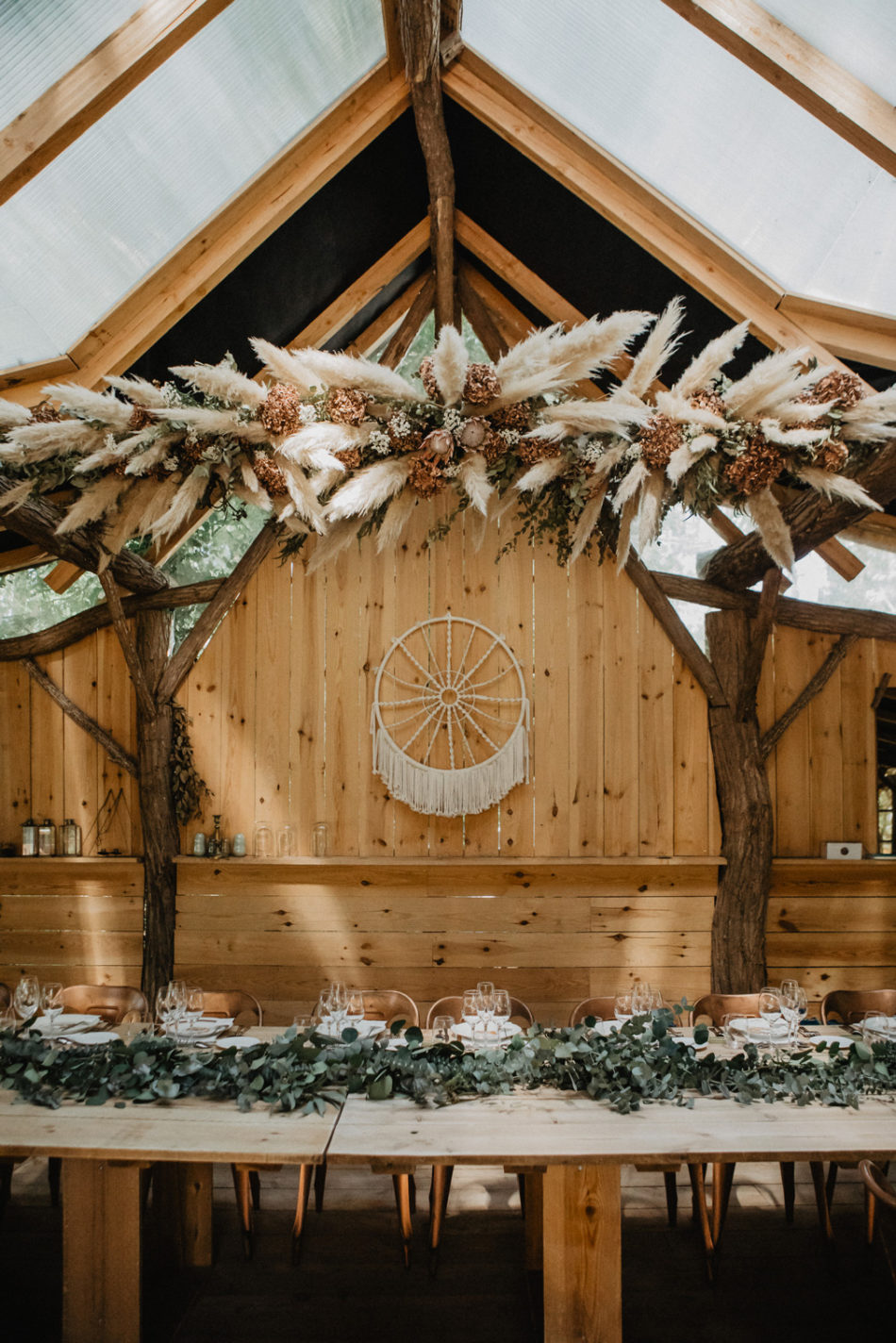 suspension de pampas au coco barn