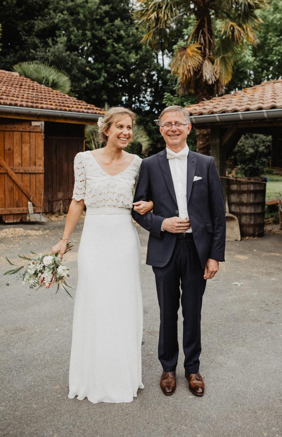 la mariée et son pere