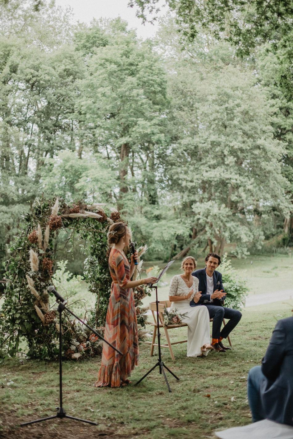 ceremonie laique avec deco pampa