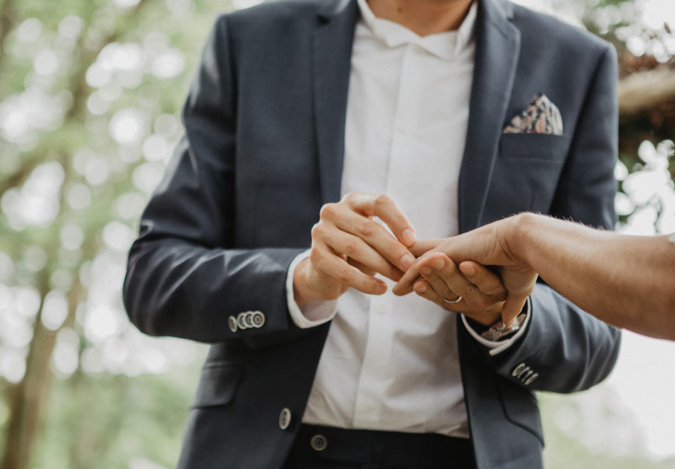 echange des alliances mariage