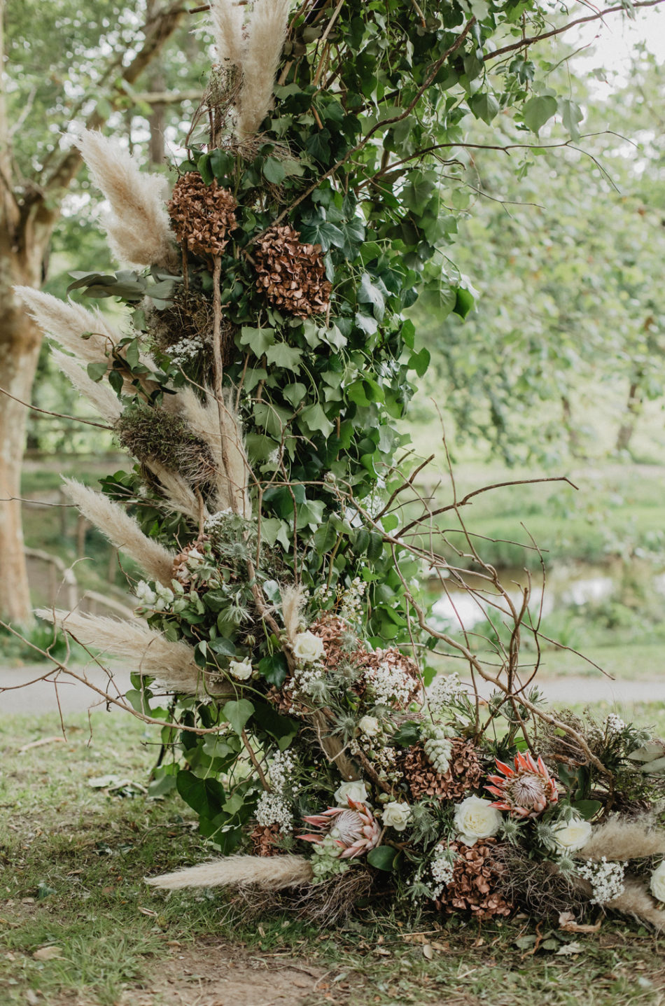 deco fleurs sechee et pampa
