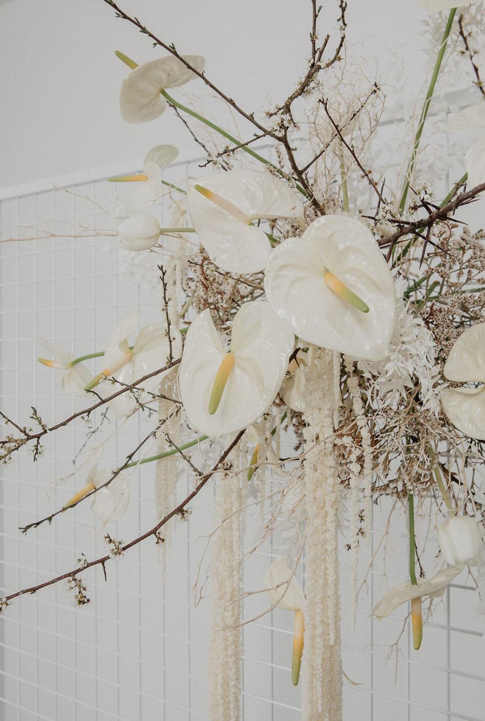 mariage japandi fleurs simple